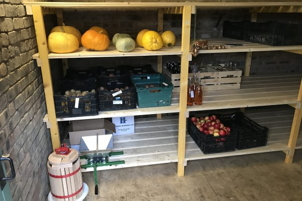Teasses, Root Store, Cider, Potatoes, Fruit, Home Brew